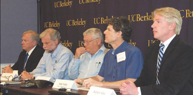 Photo of speaker panel at earthquake summit